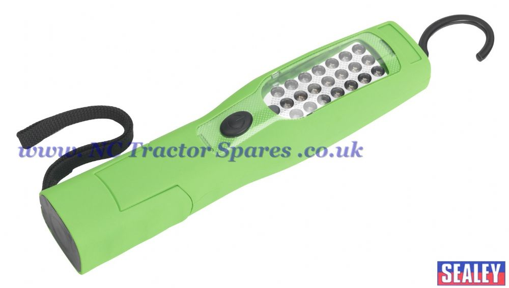 Cordless 21+5 LED Rechargeable Inspection Lamp Lithium-ion Hi-Vis Green